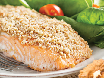 Crunchy Walnut-Crusted Salmon Fillets