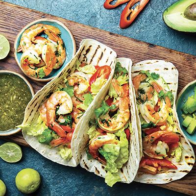 Shrimp Tacos with Salsa Verde