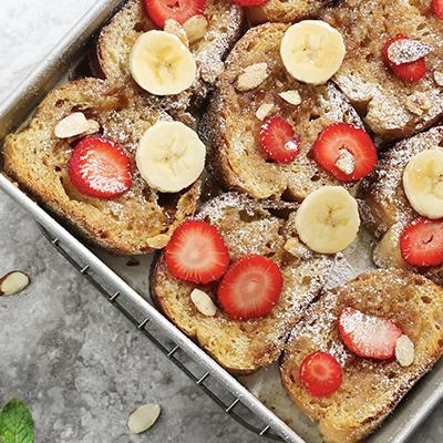 Strawberry Almond French Toast