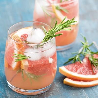 Rosemary-Infused Grapefruit Fizz