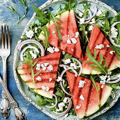 Watermelon, Feta & Arugula Salad