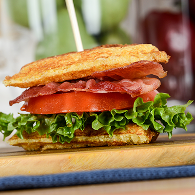 BLT Waffle Sandwich