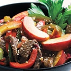 Asian Beef Salad with Peaches and Peppers