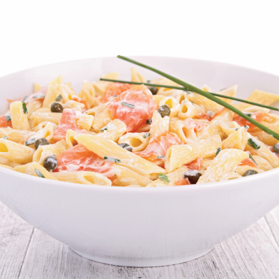 Salmon Pasta with Dill Sauce
