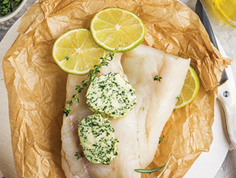 Cod en Papillote w/Spicy Herb Butter