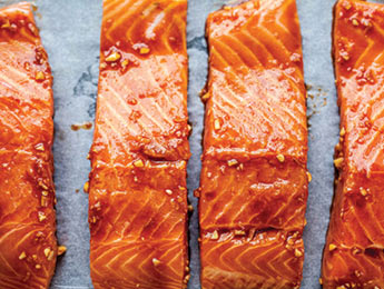 Ginger, Garlic, Miso Glazed Salmon