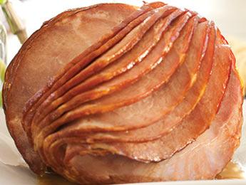 Red Currant-Bourbon Glazed Ham