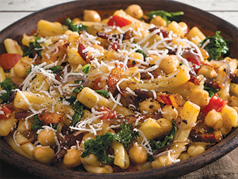 Pasta with Chickpeas, Kale and Herbs