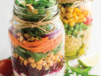 Barley, Peas, Corn & Greens Salad