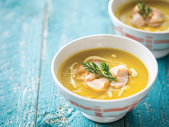 Butternut Squash Soup with Turkey