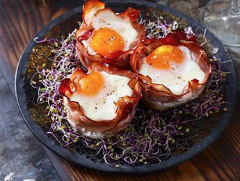 Egg & Bacon Baskets
