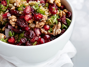 Winter Kale Salad with Candied Walnuts