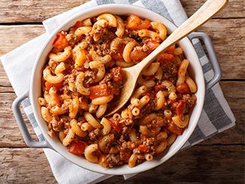 Beefy Tomato One-Pot Casserole