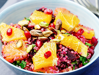 Quinoa with Roasted Beets, Oranges & Spinach