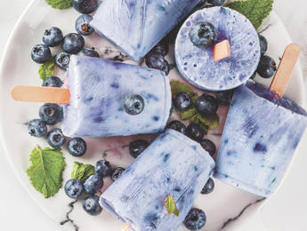 Creamy Blueberry Popsicles