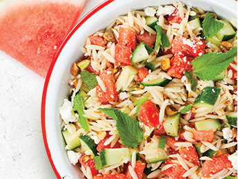 Watermelon Orzo Salad