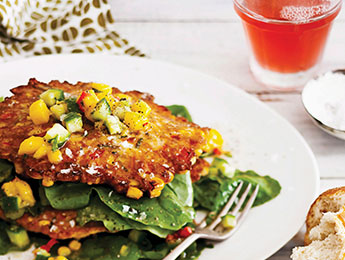 Corn Fritters with Mango Salsa