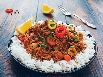 Spicy Pulled Beef with Rice