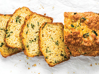 Spinach & Cheese Sweet Potato Bread