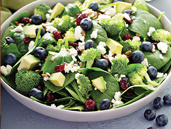 Spinach Salad with Poppy Seed Ranch Dressing